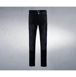 Men's Black Front Hard Jeans