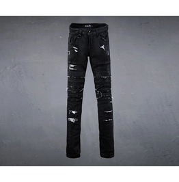 Men's Damage Cutting Silicon Skinny Jean