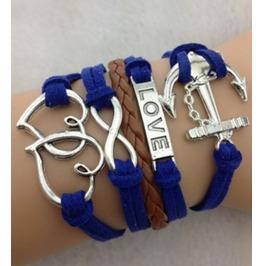 Infinity Love Bracelet Anchor Bracelet Antique Silver Bracelet