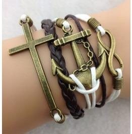 Ancient Ways Copper Anchor Bracelet Cross Bracelet Infinity Bracelet