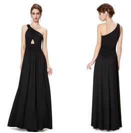 Pretty Women Black Evening Gowns Formal Party Dress Graduation