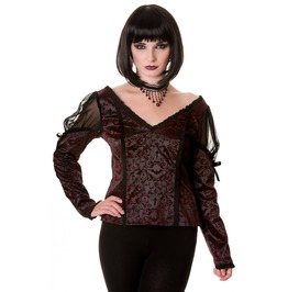 Banned Apparel Gothic Ivy Pattern Top