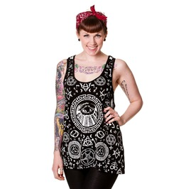 Banned Apparel Pentagram Black Vest Shirt