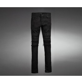 Men's Black Casual Chic Damage Dark Coatting Skinny Jeans