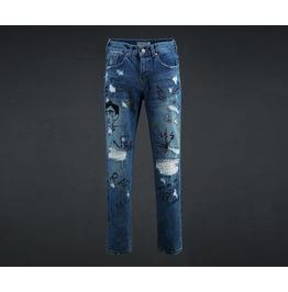 Men's Gravity Painting Denim Pants
