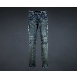 Men's Damage Nog Washing Biker Jean Pants