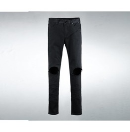Men's Black Destroyed Jean