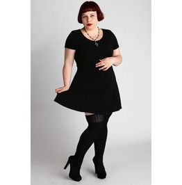 Batcave Plus Sized Little Black Dress