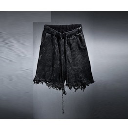 Mens Custom Loose Fit Knit Damage Shorts