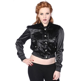 Banned Apparel Cross Cameo Black Short Jacket