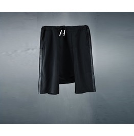 Mens Side Leather String Baggy Shorts