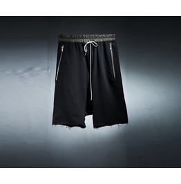 Men's Zipper Detail Training Short Pants