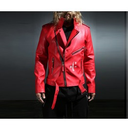 Face Leather Rider Jacket