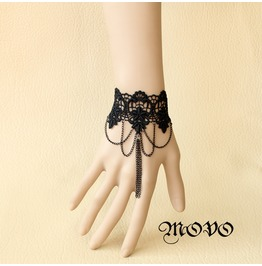 Handcraft Black Lace Gothic Bracelet Ring Ws 20
