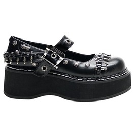 Demonia Emily 309 Platform Black Mary Jane Goth Cyber Rockabilly Shoes 8