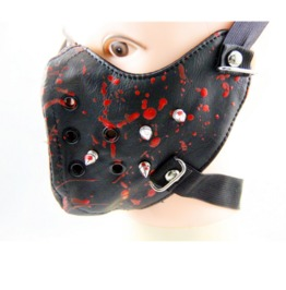 Gothic Punk Red Blood Rivets Sports Masks Riding Masks