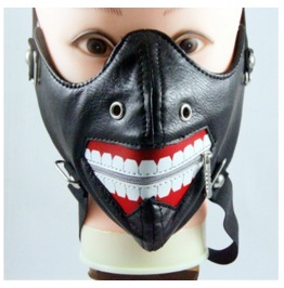 Gothic Punk Pirate Zipper Sports Masks Riding Masks Locomotive Masks