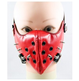 Gothic Punk Red Rivet Sports Masks Riding Masks Locomotive Masks