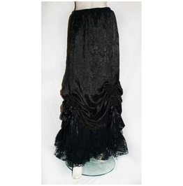 Gothic Medieval Victorian Long Skirt Black Lace Brocade From Raven