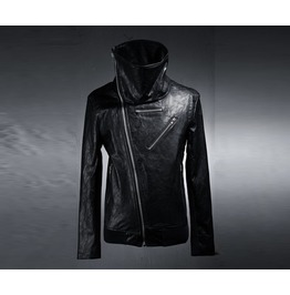 Men's Slim Turtle Neck Rider Jacket