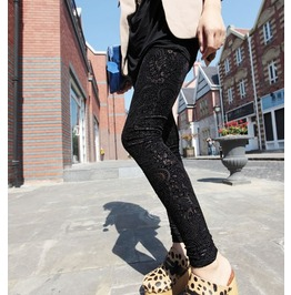 Velvet Leggings Pants Tights Hollow Leggings