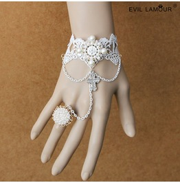 White Lace Ancients Palace Lolitta Bracelet And Ring Ws 50