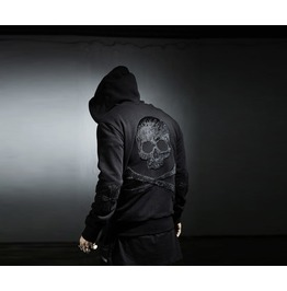 Skull,Skeleton Zip Up Hoodie