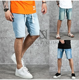 Drawcord Basic Denim Shorts 53