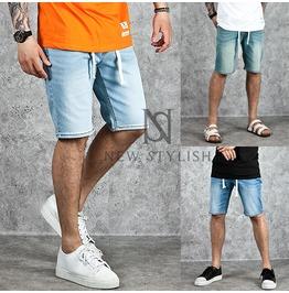 Drawcord Basic Denim Shorts 53