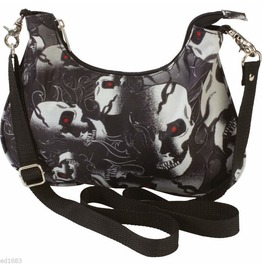 Red Eyed Skull Motorcycle Convertible Belt Loop Biker Purse