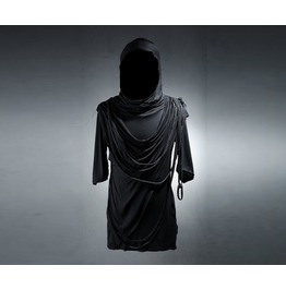 Men's String Drape Hood Shirts