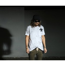 Men's Grunge Star Painting T Shirt