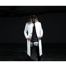 Men's Stand Color Two Button Long Coat