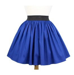 """Lindy"" Cobalt Blue A Line Pleated Skirt"