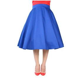 Cobalt Blue Full Circle Skirt