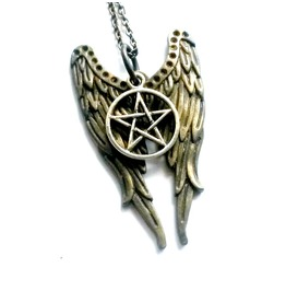 Castiel Pentagram Necklace Supernatural Angel Protection Mixed Metal Gift