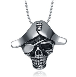 Skeleton Pirate Pendant Necklace