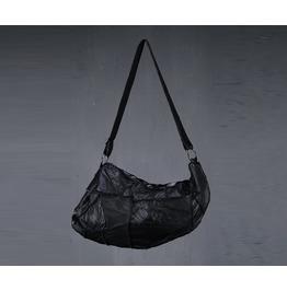 Men's Fashion Casual 1089 Leather Grunge Cross Bag Chic Black