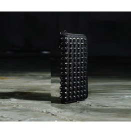 Men's 91159 Hard Studded Wallet Leather Spiked Punk Gothic