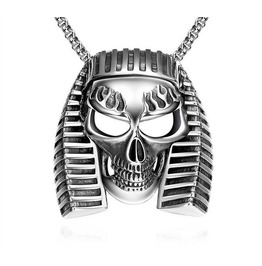 Sphinx Head Skull Pendant Necklace