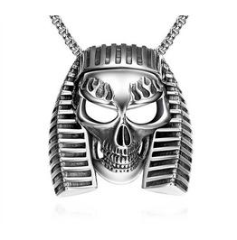 Sphinx Head Skull Pendant Necklace