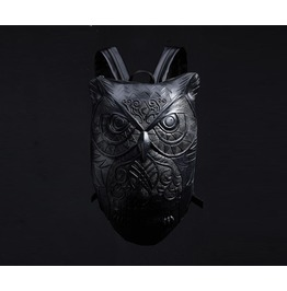 Men's R 90 Owl Embossing Backpack Dark Gothic Carving Style Bags