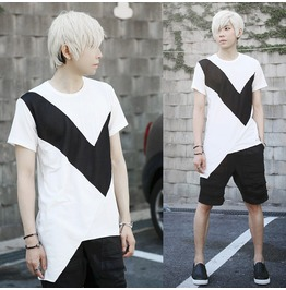 Fashion 2016 Summer Irregular Designer Men Tshirt