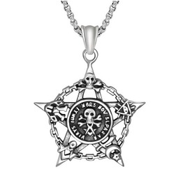 Skull Star Pendant Necklace