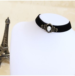 Handcraft Black Ancients Pearl Gothic Necklace Jl 159
