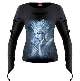 Brand New Black Ice Queen Slashed Goth Glove Top