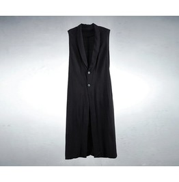 Men's Shawl Linen Long Vest