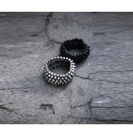Mens Metal Chain Leather Bracelet