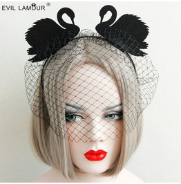 Handcraft Black Swan Grenadine Gothic Headwear Fg 11