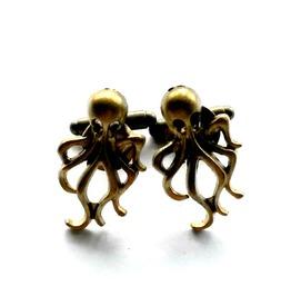 Octopus Cuff Links Kraken Men's Gift Cthulhu Handmade Gift By Aunt Matilda